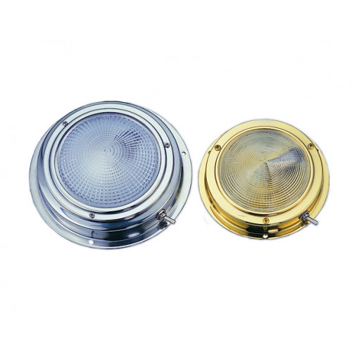 Dome Light Stainless Steel - 102mm Lens