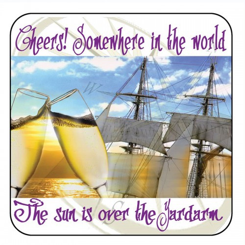 "Yachtmail ""Salty Sayings"" Coaster - Cheers"