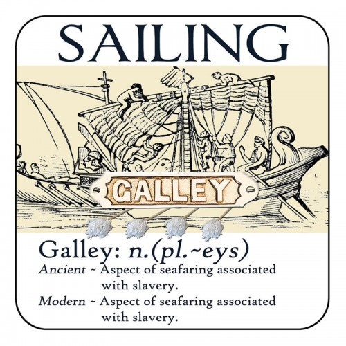 "Yachtmail ""Salty Sayings"" Coaster - Galley"
