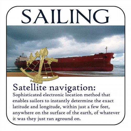 "Yachtmail ""Salty Sayings"" Coaster - Navigation"