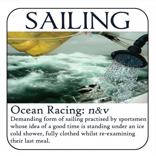 "Yachtmail ""Salty Sayings"" Coaster - Ocean Racing"