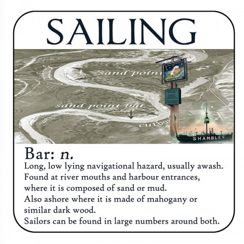 "Yachtmail ""Salty Sayings"" Coaster - Bar"