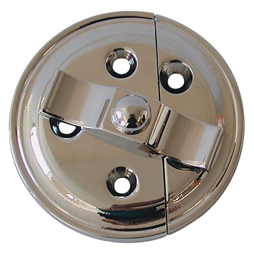 Chrome Button on Plate