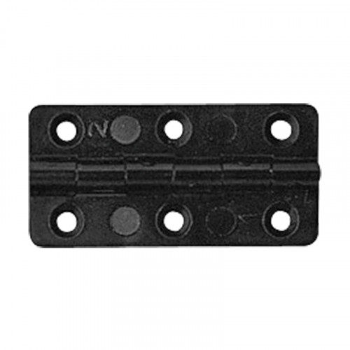 rectangular black plastic hinge
