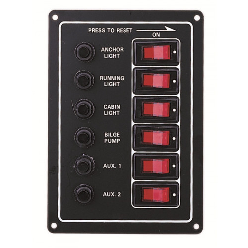 Illuminated 6 Switch Panel - Fused