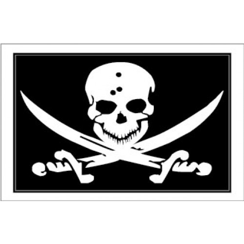 Yachtmail Marine Safety Sticker - Skull & Crossbones