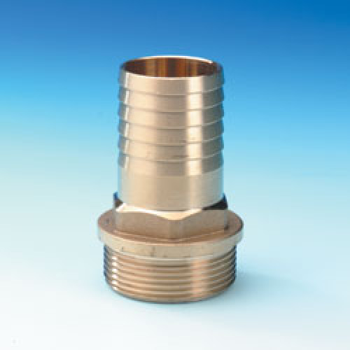 Male Hose Connectors - 1 Inch BSP - 1/2 inch ID Hose