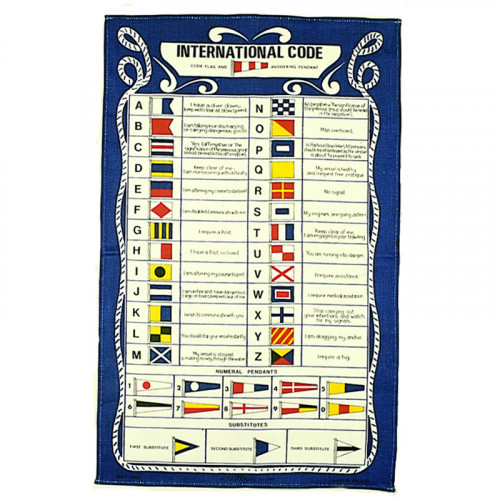 International Codes Galley Cloth - Tea Towel
