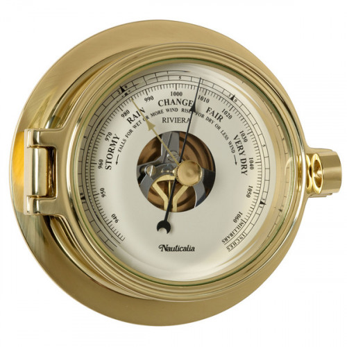 Polished Brass Riviera Barometer - 5""