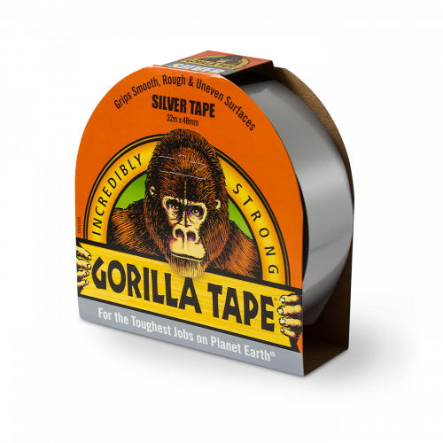 Silver Gorilla Tape - Gorilla Tough on a Roll!