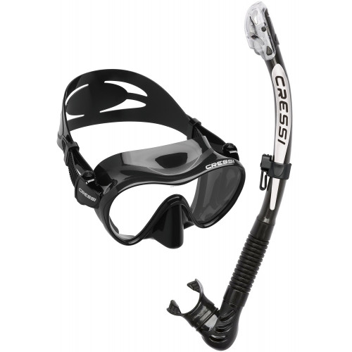 CRESSI F1 and ALPHA ULTRA DRY SNORKEL SET