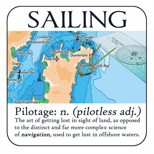 "Yachtmail ""Salty Sayings"" Coaster - Pilotage"