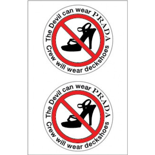 Yachtmail Safety Stickers Devil Wears Prada