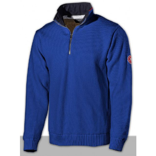 Holebrook Classic Nautical Blue Knit Jumper