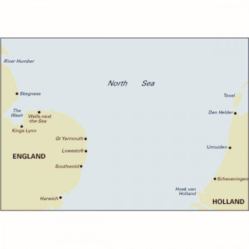 C25 Passage Chart - Southern North Sea - Harwich to River Humber and Holland