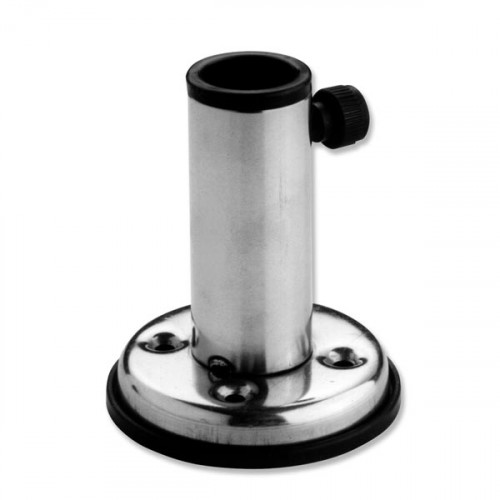 Adjustable Stainless Steel Straight Flag Pole Socket - 22mm Diameter
