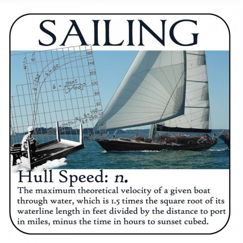 "Yachtmail ""Salty Sayings"" Coaster - Hull Speed"