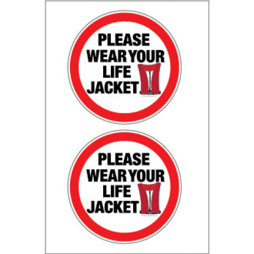 Yachtmail Marine Safety Sticker - Please Wear Your Lifejacket