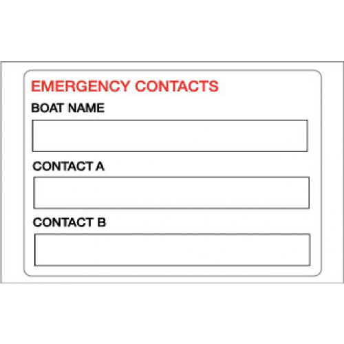 Yachtmail Marine Safety Sticker - Contact Details