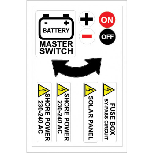 Yachtmail Marine Safety Sticker - Battery Master Switch