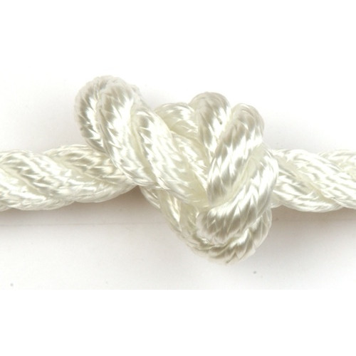 3-Strand Polyester Rope 8mm - White (Splicing Available)