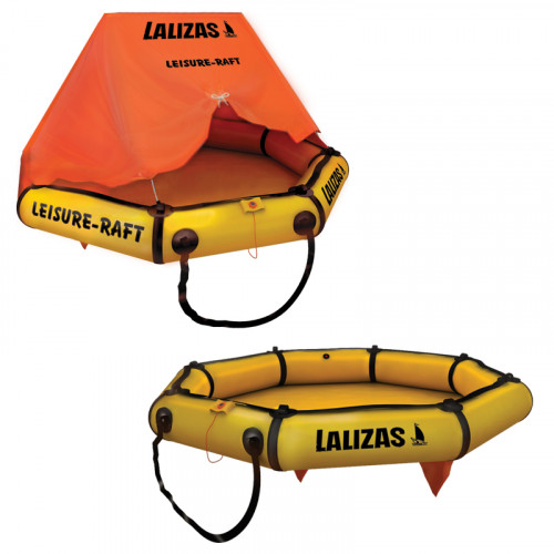 LALIZAS LEISURE Liferaft, 4 Persons with canopy
