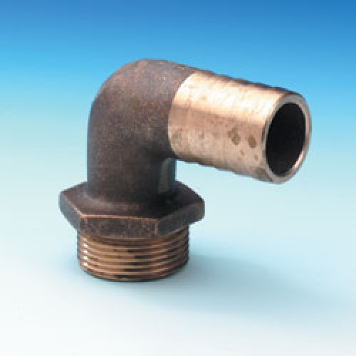 Bent Hose Connector - 1 1/4 Inch BSP - 32mm ID Hose