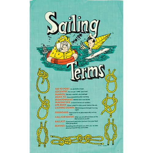 Sailing Terms Galley Cloth - Tea Towel