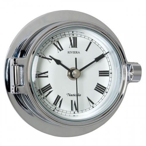 Riviera Chrome Clock
