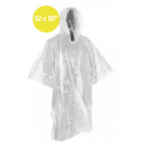 Clear poncho - pack of 2