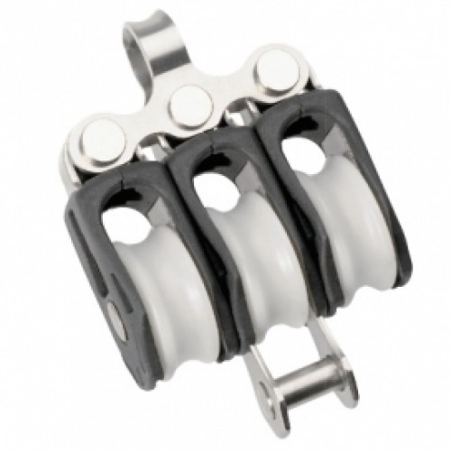 Size 0 Ball Bearing Block Triple Fixed eye & Becket
