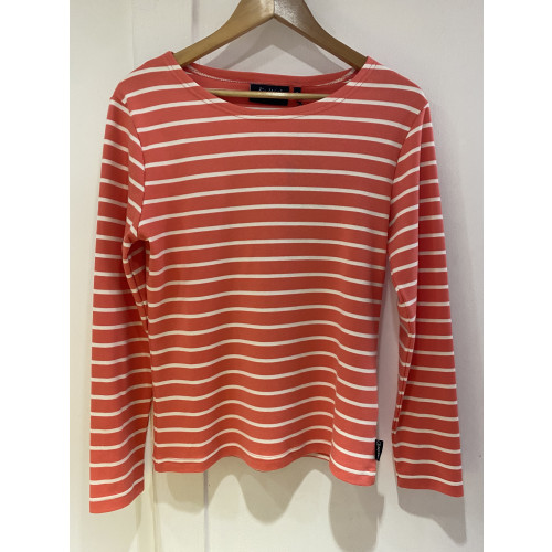 Sea Ranch of Denmark - Woman's Long Sleeve Tee - (ANTIBES) (Spiced Coral/Pearl)