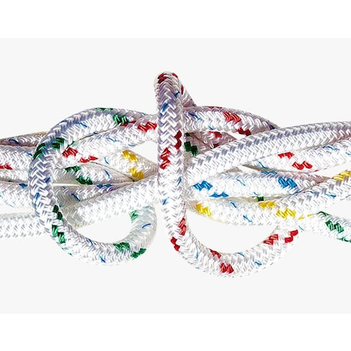 Braid on Braid Rope 6mm - White & Flecked (Splicing Available)