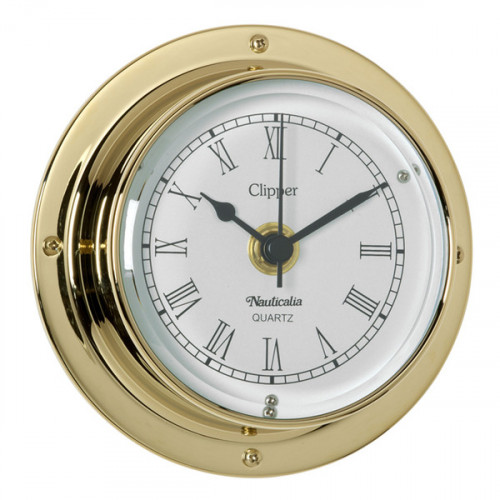 'Clipper' Clock Brass - 4.5""