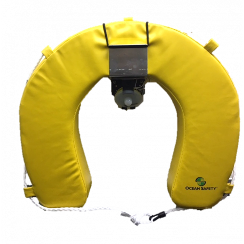 Coastal Horseshoe Lifebuoy Set with Compact Apollo Lifebuoy Light - Ocean Safety