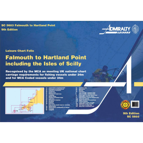 SC5603 Falmouth to Padstow including Isles of Scilly (Admiralty Leisure Chart Folio)